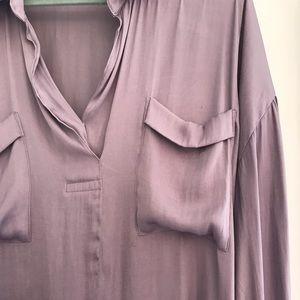 Free people loose lavender shirt